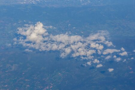 cumuli: Clouds in the blue sky shoot from Airplane