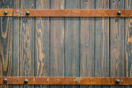 old metal: old metal and wood medieval background