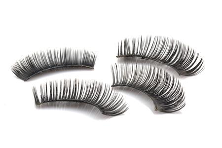 false: False use eyelashes isolated on white backgrund