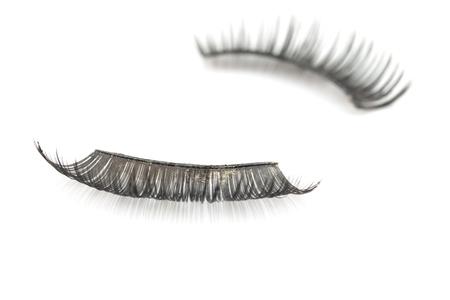 fake eyelashes: False use eyelashes isolated on white backgrund