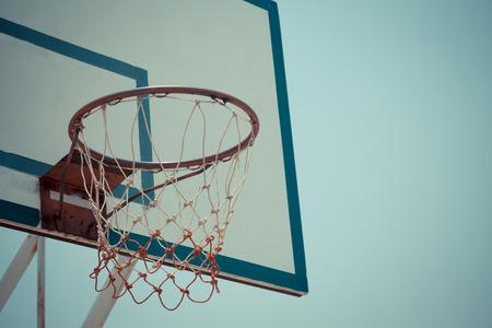 basketball net: Closeup of basketball hoop background Stock Photo