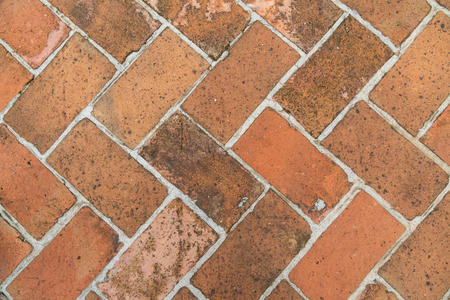 Old vintage red brick floor background