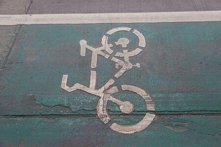 road bike: Sign bike lane road for bicycles background