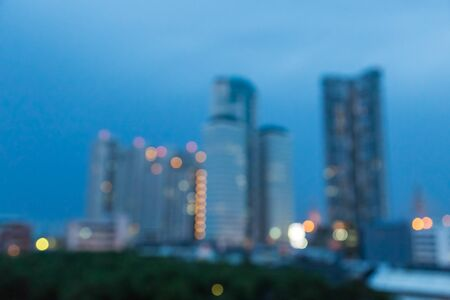 dark backgrounds: blur of office building with bokeh  background