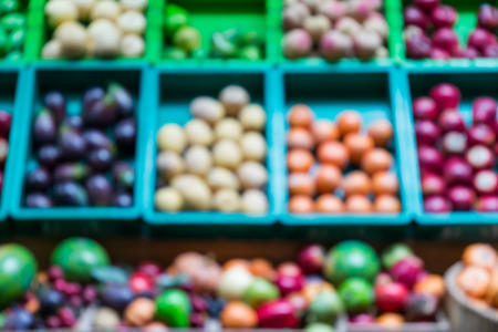 blur of fruits at the market