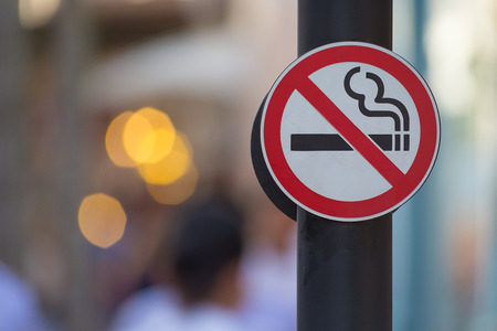 No smoking sign background Stock Photo