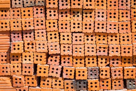 Red bricks background Stock Photo