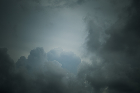 natural moody: Sky and clouds before raining background Stock Photo