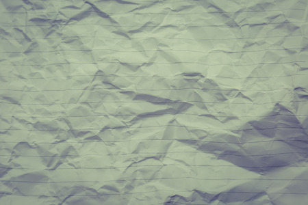 smudged: crumpled of blank paper with line background