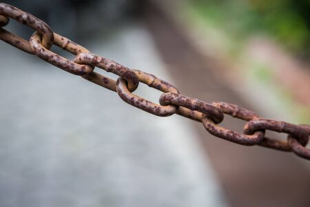 Rusty chain surfaces texture background Stock Photo