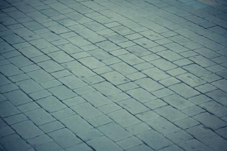 Roads, paved walkways, stone blocks background Stock Photo