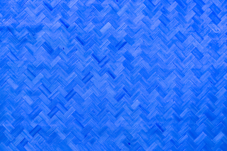 Old blue bamboo weave texture pattern background