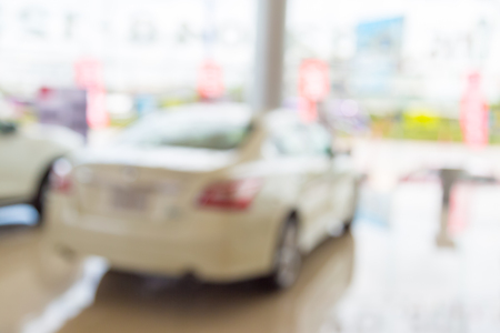 Blur car in the showroom background