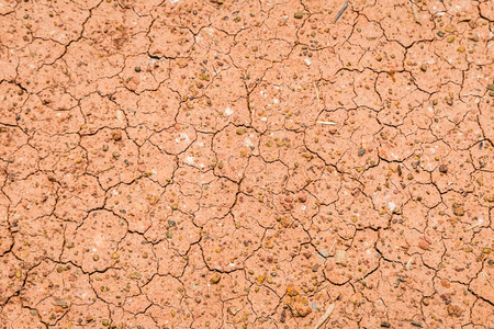 Red ground broken form heat and dry drought pollution background