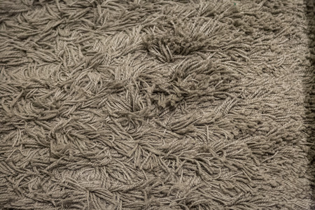 Close up of Brown fabric carpet use for background Banco de Imagens