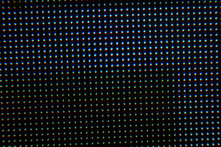 Close up of led dot in the screen background Stock Photo