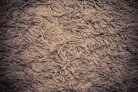 Close up of Brown fabric carpet use for background Stock Photo