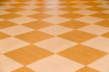 Yellow tile floor clean room with grid line for background. 免版税图像