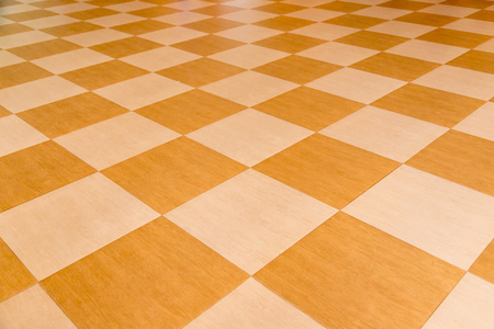Yellow tile floor clean room with grid line for background. Stock Photo - 124612257