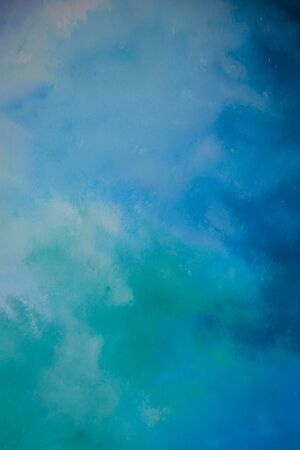 Abstract blue paint color on the wall background Stockfoto