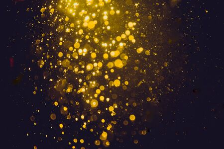 Bokeh gold from natural water texture background