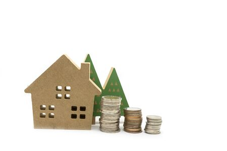 Concept of saving money for housing loans and real estate Foto de archivo - 124683626
