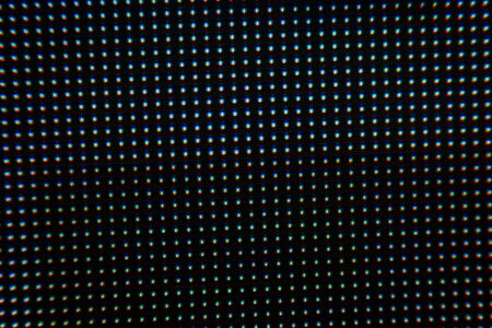 Close up of led dot in the screen background Stockfoto