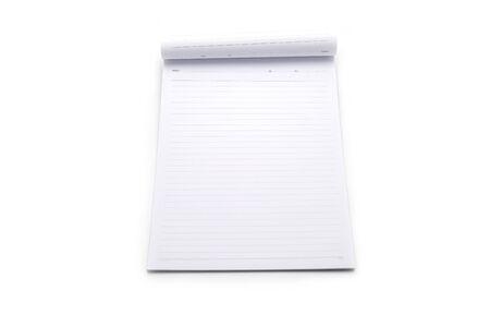 open school notebook on white background Stockfoto