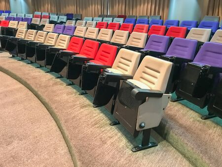 Empty rows of chairs in the meeting room 版權商用圖片