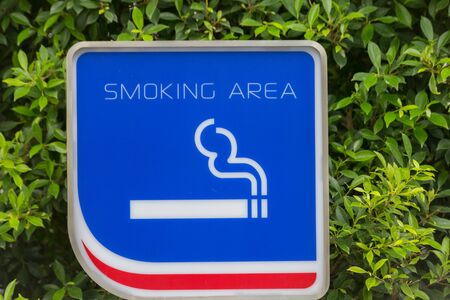 No smoking sign with green background