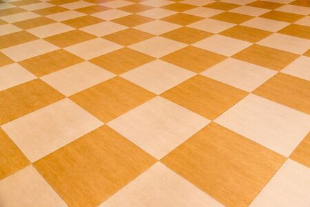 Yellow tile floor clean room with grid line for background. Imagens