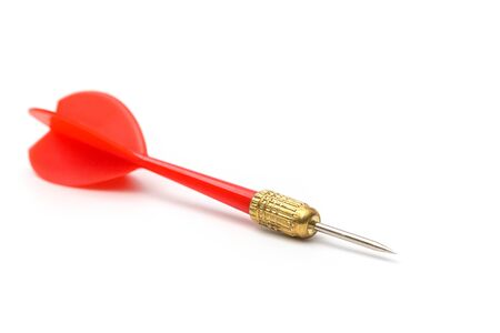 Red darts isolated on white background