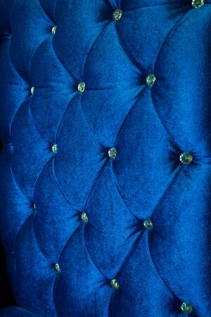 Luxury of blue fabric with diamond use for background Imagens
