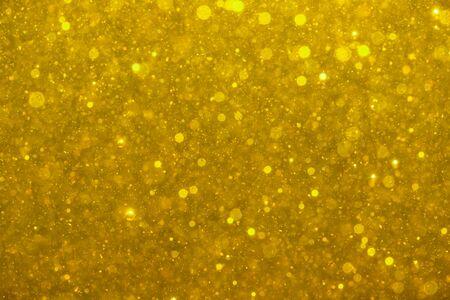 Beautiful gold glitter vintage lights background