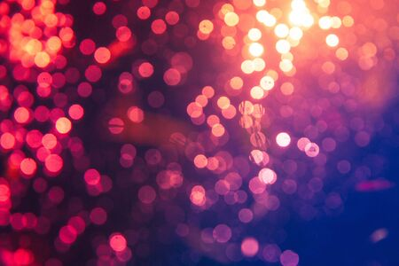 Fantasy Abstract blur golden bokeh of lights colorful sparkle use for background
