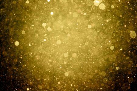 Beautiful gold glitter vintage lights background Stockfoto