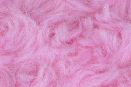 Pink luxury wool natural fluffy fur wool skin texture  close-up use for background and wallpaper