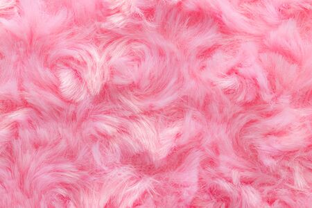Pink luxury wool natural fluffy fur wool skin texture close-up use for background and wallpaper Stock fotó