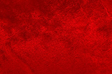 Red luxury wool natural fluffy fur wool skin texture  close-up use for background and wallpaper