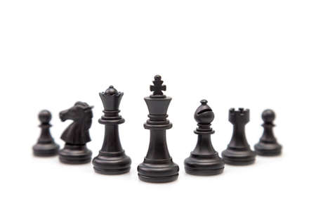 Chess is a thinking process in which business planners choose a path to achieve their goals Stockfoto