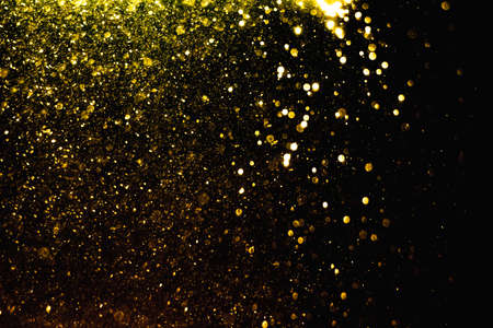 Glittering stars of blur gold  bokeh use for celebrate background Stock fotó
