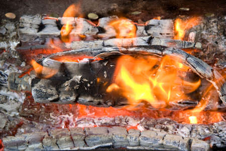coals: Decaying coals lay and turn to ashes