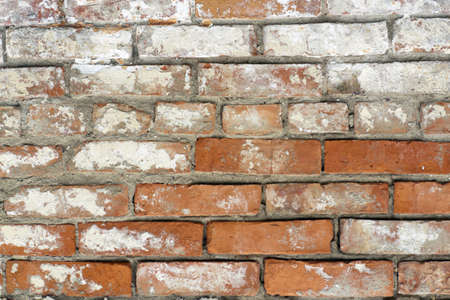 creative potential: Old wall from red bricks