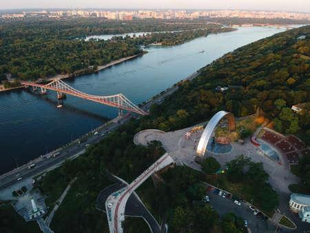 aerial photo of the center of Kyiv Ukraine Stock Photo