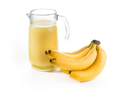 Banana nectar Stock Photo