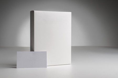 Box on the gradient background Stock Photo