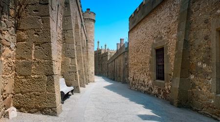 De straten van het oude kasteel