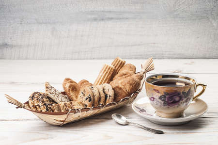 Composition of biscuits and tea