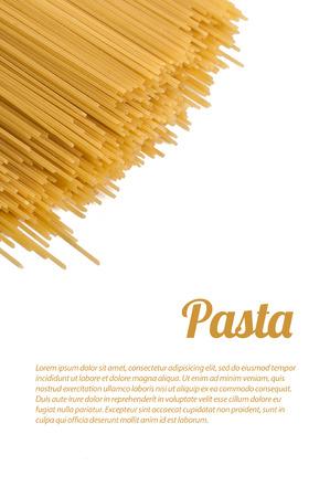 pasta isolated: pasta isolated Stock Photo