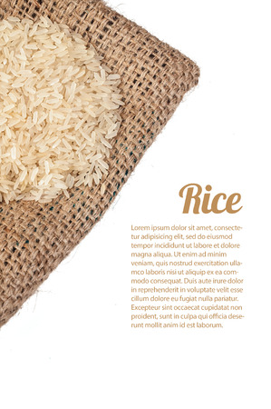 Rice bag Stock Photo
